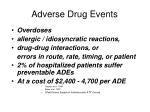 adverse drug events1