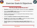 exercise goals objectives