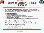 exercise support tiered approach