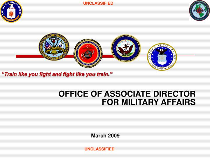 office of associate director for military affairs n.