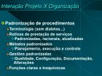 intera o projeto x organiza o3