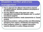 disasters conflict and crisis management