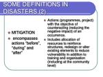 some definitions in disasters 2