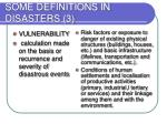 some definitions in disasters 3