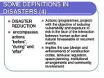 some definitions in disasters 4
