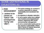 some definitions in disasters 5