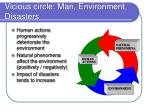 vicious circle man environment disasters