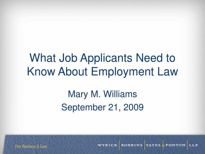 what job applicants need to know about employment law n.