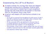 disseminating the lsp to all routers