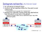 datagram networks the internet model