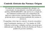 controle abstrato das normas origem