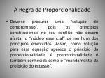 a regra da proporcionalidade