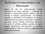 os direitos fundamentais e sua efetividade