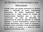 os direitos fundamentais e sua efetividade1