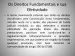 os direitos fundamentais e sua efetividade2