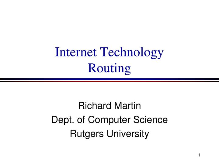 internet technology routing n.