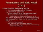 assumptions and basic model cont2
