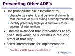 preventing other ade s
