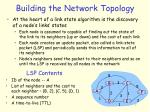 building the network topology