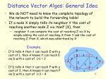 distance vector algos general idea
