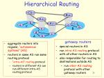 hierarchical routing1