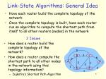 link state algorithms general idea