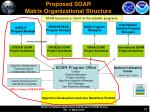 proposed soar matrix organizational structure