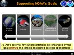 supporting noaa s goals