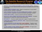 the satellite research program research components their purpose
