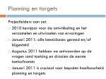 planning en targets
