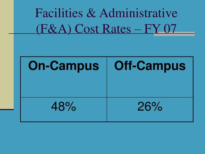 Facilities & Administrative