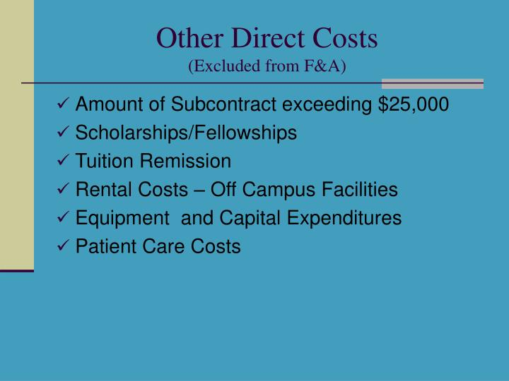 Other Direct Costs