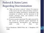 federal states laws regarding discrimination11
