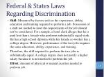 federal states laws regarding discrimination14