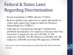 federal states laws regarding discrimination47