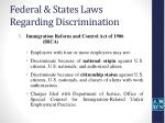 federal states laws regarding discrimination5