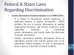 federal states laws regarding discrimination8