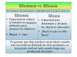 eficiencia vs eficacia