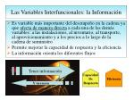 las variables interfuncionales la informaci n