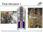 parts fabrication 1