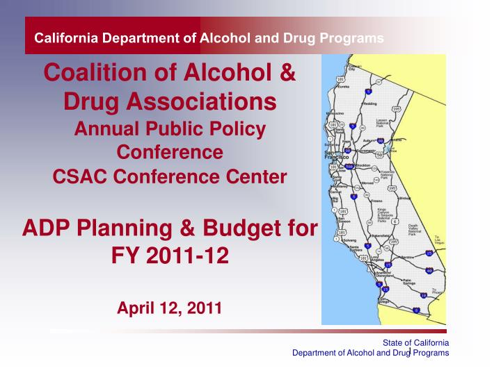 california department of alcohol and drug programs n.