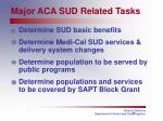 major aca sud related tasks