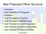 new proposed officer structure