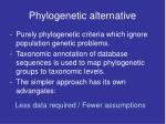 phylogenetic alternative