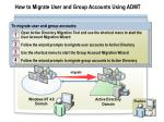 how to migrate user and group accounts using admt