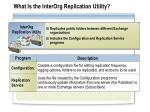 what is the interorg replication utility