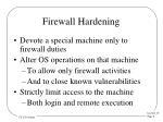 firewall hardening