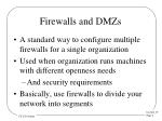 firewalls and dmzs