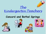 the kindergarten teachers
