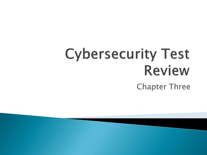 cybersecurity test review n.